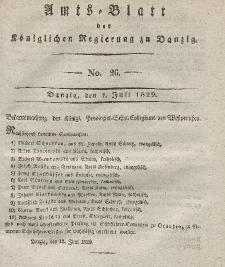 Amts-Blatt der Königlichen Regierung zu Danzig, 1. Juli 1829, Nr. 26