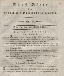 Amts-Blatt der Königlichen Regierung zu Danzig, 15. Juli 1829, Nr. 28