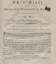 Amts-Blatt der Königlichen Regierung zu Danzig, 22. Juli 1829, Nr. 29