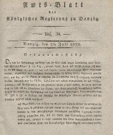 Amts-Blatt der Königlichen Regierung zu Danzig, 29. Juli 1829, Nr. 30