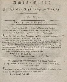 Amts-Blatt der Königlichen Regierung zu Danzig, 5. August 1829, Nr. 31