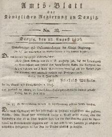 Amts-Blatt der Königlichen Regierung zu Danzig, 12. August 1829, Nr. 32