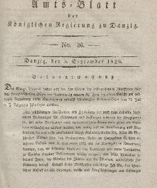 Amts-Blatt der Königlichen Regierung zu Danzig, 9. September 1829, Nr. 36