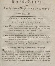 Amts-Blatt der Königlichen Regierung zu Danzig, 16. September 1829, Nr. 37