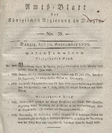 Amts-Blatt der Königlichen Regierung zu Danzig, 30. September 1829, Nr. 39