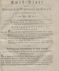 Amts-Blatt der Königlichen Regierung zu Danzig, 21. Oktober 1829, Nr. 42
