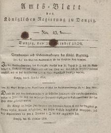 Amts-Blatt der Königlichen Regierung zu Danzig, 28. Oktober 1829, Nr. 43