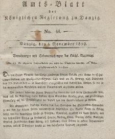 Amts-Blatt der Königlichen Regierung zu Danzig, 4. November 1829, Nr. 44