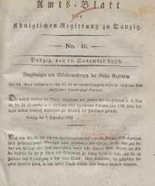 Amts-Blatt der Königlichen Regierung zu Danzig, 18. November 1829, Nr. 46
