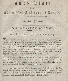 Amts-Blatt der Königlichen Regierung zu Danzig, 25. November 1829, Nr. 47