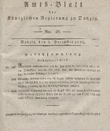 Amts-Blatt der Königlichen Regierung zu Danzig, 9. Dezember 1829, Nr. 49
