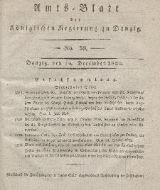 Amts-Blatt der Königlichen Regierung zu Danzig, 16. Dezember 1829, Nr. 50