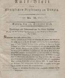 Amts-Blatt der Königlichen Regierung zu Danzig, 30. Dezember 1829, Nr. 52