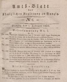 Amts-Blatt der Königlichen Regierung zu Danzig, 5. Februar 1834, Nr. 6