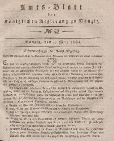 Amts-Blatt der Königlichen Regierung zu Danzig, 28. Mai 1834, Nr. 22