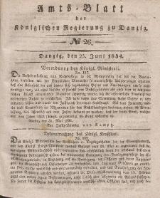 Amts-Blatt der Königlichen Regierung zu Danzig, 25. Juni 1834, Nr. 26