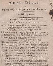 Amts-Blatt der Königlichen Regierung zu Danzig, 20. August 1834, Nr. 34