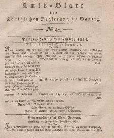 Amts-Blatt der Königlichen Regierung zu Danzig, 26. November 1834, Nr. 48