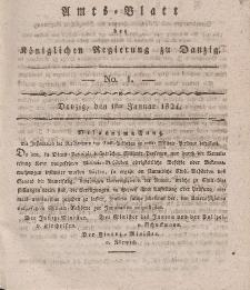 Amts-Blatt der Königlichen Regierung zu Danzig, 1. Januar 1824, Nr. 1