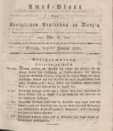 Amts-Blatt der Königlichen Regierung zu Danzig, 8. Januar 1824, Nr. 2