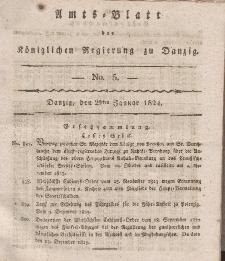Amts-Blatt der Königlichen Regierung zu Danzig, 29. Januar 1824, Nr. 5