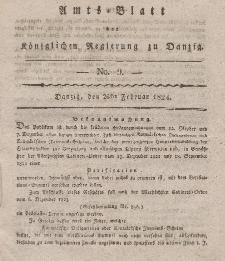 Amts-Blatt der Königlichen Regierung zu Danzig, 26. Februar 1824, Nr. 9
