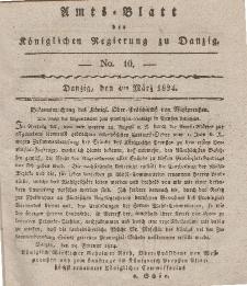 Amts-Blatt der Königlichen Regierung zu Danzig, 4. März 1824, Nr. 10
