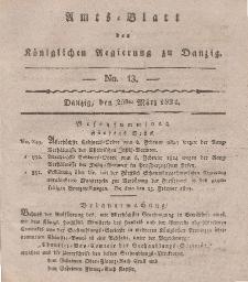 Amts-Blatt der Königlichen Regierung zu Danzig, 25. März 1824, Nr. 13