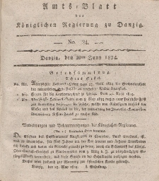 Amts-Blatt der Königlichen Regierung zu Danzig, 10. Juni 1824, Nr. 24