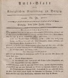 Amts-Blatt der Königlichen Regierung zu Danzig, 24. Juni 1824, Nr. 26