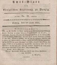 Amts-Blatt der Königlichen Regierung zu Danzig, 8. Juli 1824, Nr. 28