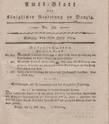 Amts-Blatt der Königlichen Regierung zu Danzig, 22. Juli 1824, Nr. 30