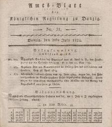Amts-Blatt der Königlichen Regierung zu Danzig, 29. Juli 1824, Nr. 31