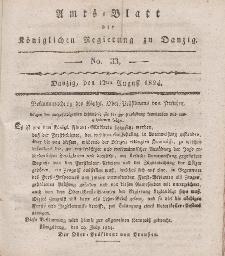 Amts-Blatt der Königlichen Regierung zu Danzig, 12. August 1824, Nr. 33