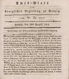 Amts-Blatt der Königlichen Regierung zu Danzig, 26. August 1824, Nr. 35