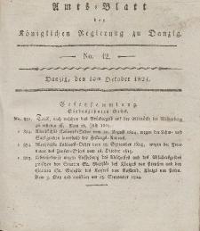 Amts-Blatt der Königlichen Regierung zu Danzig, 14. Oktober 1824, Nr. 42