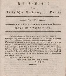 Amts-Blatt der Königlichen Regierung zu Danzig, 21. Oktober 1824, Nr. 43