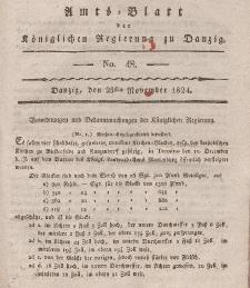 Amts-Blatt der Königlichen Regierung zu Danzig, 25. November 1824, Nr. 48