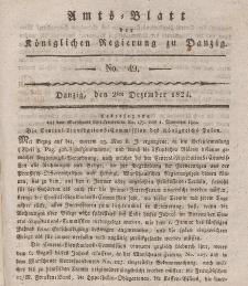 Amts-Blatt der Königlichen Regierung zu Danzig, 2. Dezember 1824, Nr. 49