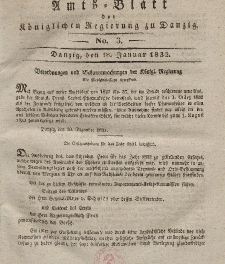 Amts-Blatt der Königlichen Regierung zu Danzig, 18. Januar 1832, Nr. 3