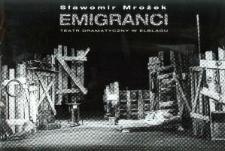 Emigranci - program teatralny