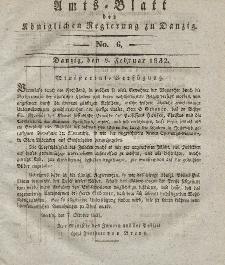 Amts-Blatt der Königlichen Regierung zu Danzig, 8. Februar 1832, Nr. 6