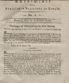 Amts-Blatt der Königlichen Regierung zu Danzig, 22. Februar 1832, Nr. 8