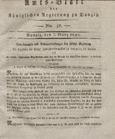 Amts-Blatt der Königlichen Regierung zu Danzig, 7. März 1832, Nr. 10