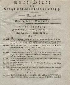 Amts-Blatt der Königlichen Regierung zu Danzig, 21. März 1832, Nr. 12