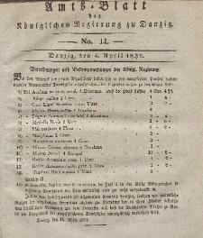 Amts-Blatt der Königlichen Regierung zu Danzig, 4. April 1832, Nr. 14