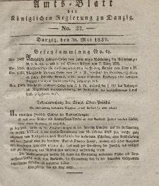 Amts-Blatt der Königlichen Regierung zu Danzig, 30. Mai 1832, Nr. 22