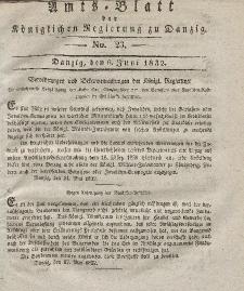 Amts-Blatt der Königlichen Regierung zu Danzig, 6. Juni 1832, Nr. 23