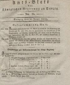 Amts-Blatt der Königlichen Regierung zu Danzig, 20. Juni 1832, Nr. 25