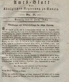Amts-Blatt der Königlichen Regierung zu Danzig, 27. Juni 1832, Nr. 26